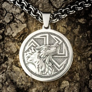 Волк с коловратом из серебра